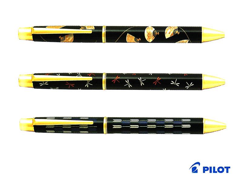 【ボールペン】Pilot パイロット平蒔絵ボールペン BSTN-2MP 全3柄扇面/蜻蛉/矢羽根