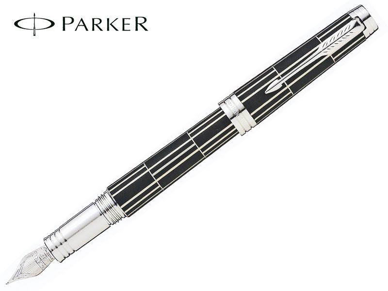 【万年筆】PARKERパーカーPREMIERプリミエブラックシズレCT18金ペン先F/M