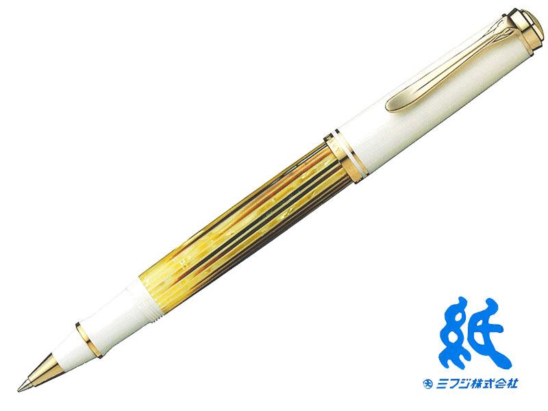 【水性ボールペン】PelikanペリカンSouveran スーベレーン R400WHITE TORTOISEホワイトトータスローラーボール