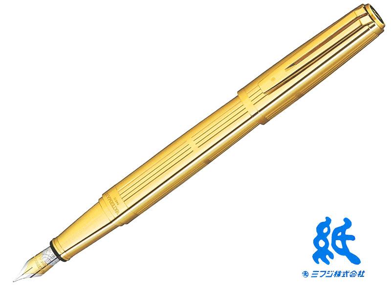 【万年筆】WATERMANウォーターマンEXCEPTIONエクセプションプレシャスメタル ソリッドゴールド万年筆 (EF~B) 18金ペン先
