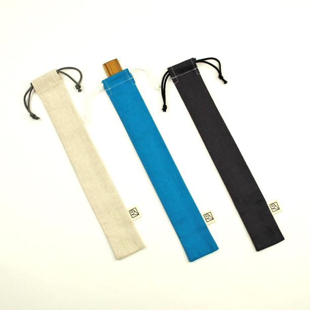 もの差し入れに 箸袋に 筆入れに 国産品 長巾着袋 コットンリネンの細長い巾着袋 お買い得 ものさし入れ 5×30cm in 大人の綿麻キャンバス Japan Made