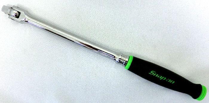 Snap-on (スナップオン) 3/8 差し込み ブレーカーバー スピンナーハンドル グリップ付き グリーン 緑 FHBB12G 並行輸入品