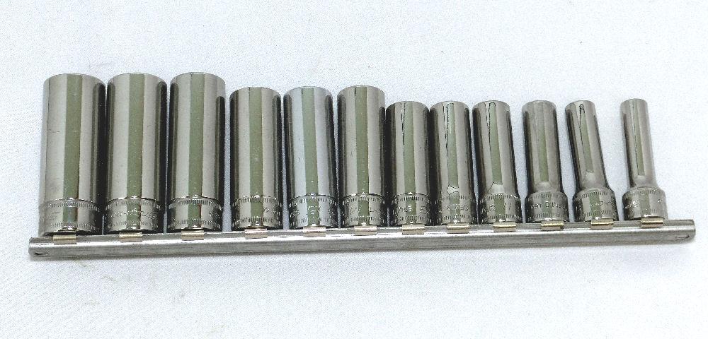 Snap-on (スナップオン) 3/8 差し込み セット 12角 ディープ ソケット 212SFMY 並行輸入品