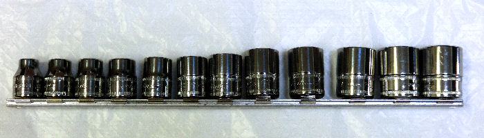 Snap-on (スナップオン) 3/8 差し込み セット 6角 ショート ソケット 12本 212FSMY 並行輸入品