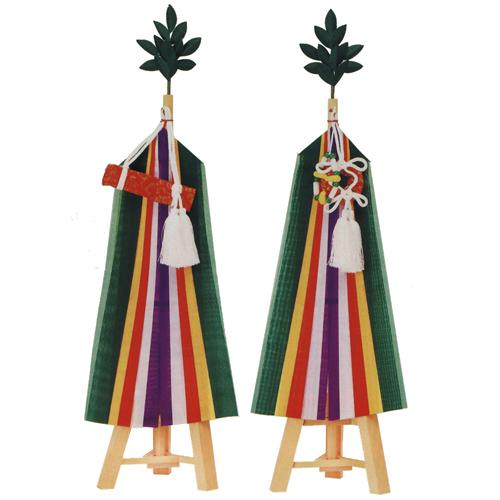 【神具】真榊 (神棚用) 三本台 合寸 60cm