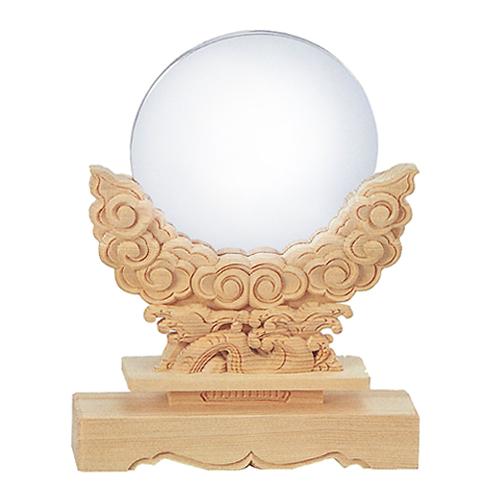 【神具】極上雲形・神鏡(神棚用) 3寸