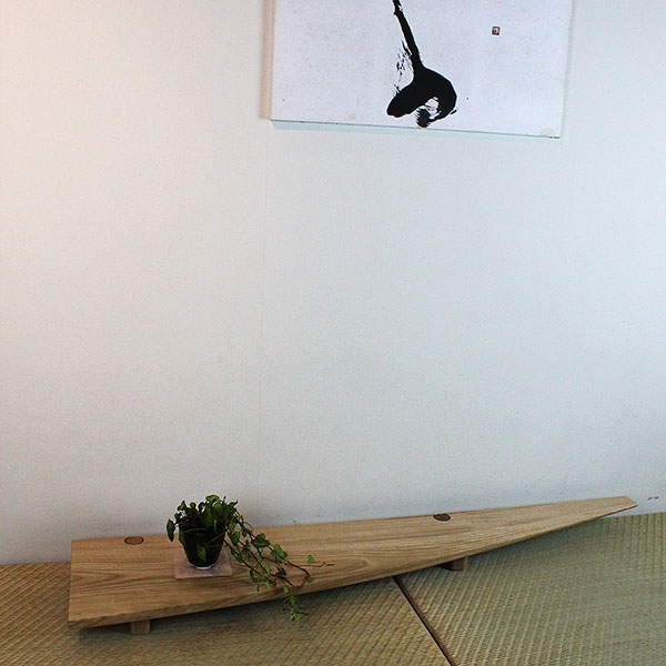 置き床okidoko120和室 置き床の間 床の間 木製花台 飾り台 花瓶 華台 敷板 クリ 置床 マンション 新築 玄関 おしゃれ 北欧 木製 モダン シンプル インテリア 無垢材 オシャレ リフォーム リビング 90幅 インテリアモダン 飾り棚 棚