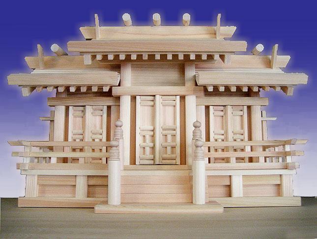神棚 三社 【屋根違い三社 唐戸】 東濃桧 東濃ひのき 送料無料
