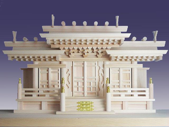 神棚 マス組付き唐戸三社(神棚神具)
