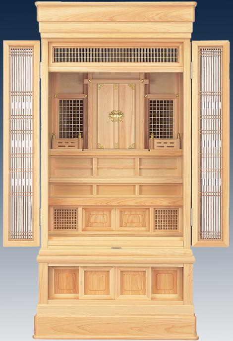 祖霊舎 【橘 45号】 神道 神徒壇 霊舎 五十日祭 桧 ひのき 送料無料