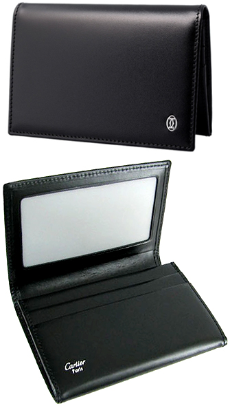 the latest b7c6a 48ca5 Cartier Cartier CARDCASE two folded business card holder, folding card case  PASHA cowhide leather unisex L3000132 black two cards put the ...