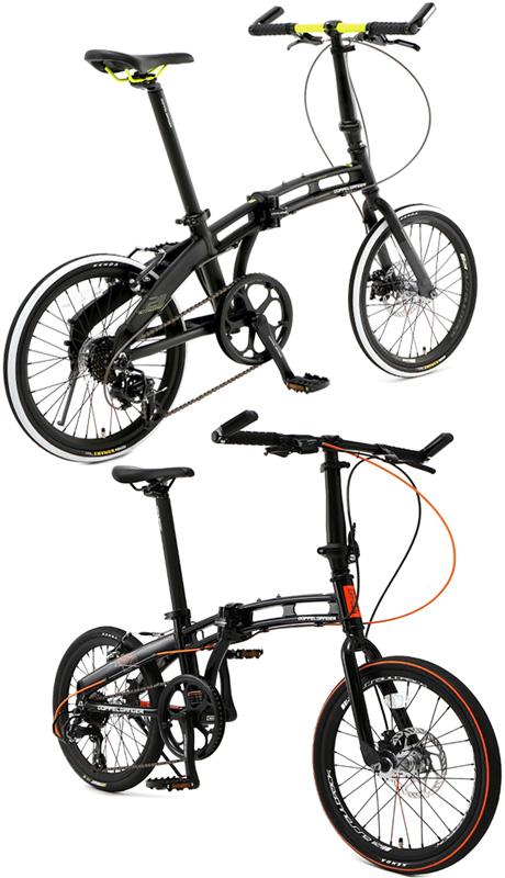 20インチ折り畳み自転車 スポーティーサイクルブラック×オレンジライン バーエンドグリップマットブラック×ホワイト×イエローシマノ製7段変速ギア&KENDA製ロードタイヤ前輪ディスクプレーキ&クイックリリース仕様軽量ツインチューブアルミフレーム