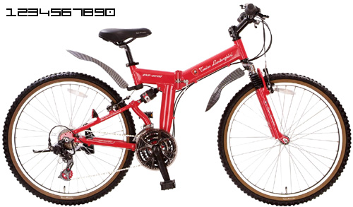 Tonino Lamborghini ( Lamborghini ) Mountain Bike MTB W Equipped With  Suspension Shimano レバーシフト 18 Speed Gear Equipped With Foldable 26 Inch Bike  ...