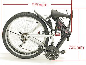 用铝框架山自行车禧玛诺 18 速 26 寸折叠自行车 [山地车] 折叠山地自行车前部和后的悬架与配备