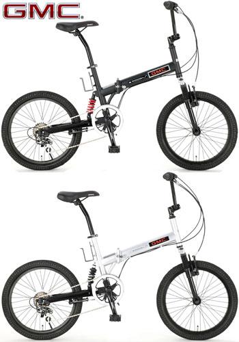 GMC ジーエムシー折りたたみ20インチ自転車 BMXビーエムエックス マウンテンバイクダブルサスペンション搭載シマノ製6段変速ギア搭載BMX FDB206W-susマットブラック シルバーWサス MTB