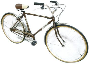 STURMEY ARCHER製シフター搭載内装3段変速付き700C(約27インチ自転車)クラシックシティークルーザー落ち着いたフレームにツートンサドルシンプルスタイリッシュフレーム レトロモダンプロムナードハンドルブラック、イエロー、ブラウン