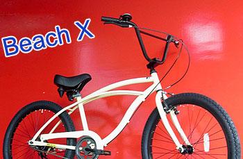 アイラインフレーム 浜辺には特にマッチビーチクルーザー BMXハンドル24インチ 自転車この夏はこれできまり!レッド マットブラック ネイビーブルー アイボリー カーキグリーン ブラックBEACH CRUISER BICYCLE