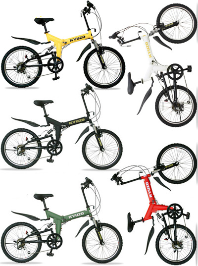 20インチ折りたたみ自転車 ケイユーゾー段差の衝撃吸収 ダブルサスペンション搭載折り畳み簡単レバー式制動力の高いVブレーキ採用坂道ラクラク シマノ製6段変速ギア搭載ホワイト、ブラック、イエロー、オリーブ、レッド