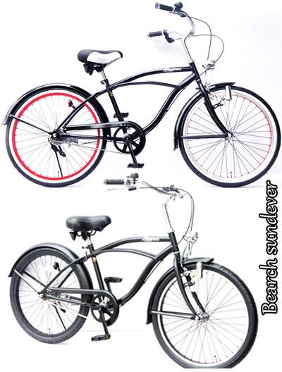 广泛的处理及厚轮胎 24 寸自行车海滩巡洋舰眼线帧贝壳灯 & 钟大 t 黑色黑色红色边缘线棕色 × 绿色 rim 海滩巡洋舰 24 英寸 x