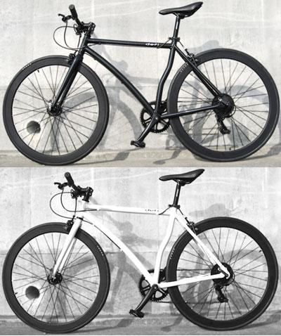 KENDA製アルミホイール&JOYTECH製アルミハブ700C 約27インチ自転車 ロードバイククロスバイク ブラック ホワイトシマノ製7段変速ギア 軽量アルミフレームコンパクトに運ぶ前後クイックリリースデュアルピボットキャリパーブレーシティーサイクル