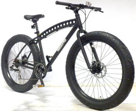目立ちたいならこの1台巨大4.0幅広極太タイヤ マウンテンクルーザー前後輪ディスクブレーキ&シマノ製7段変速搭載26インチ自転車 BMXマウンテンバイクホーリングツインチューブアルミフレームビーチクルーザー シルバー ブラック オリーブ レッド