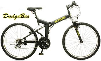 Wサス搭載折り畳み26インチ自転車マウンテンバイク リアサス&フロントサス シティーサイクルシマノ製18段変速付きダブルサスペンションマットブラック イエロー オフホワイト マットレッド マットグリーンKENDA製オフロードブロックタイヤ仕様