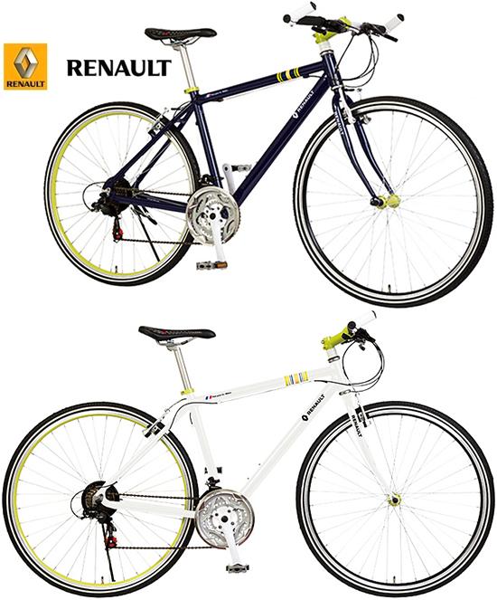 RENAULT ルノー 700C 約27インチ自転車通期や通学に便利な軽量設計スタイリッシュハンドルバーエンドアルミフレーム シマノ製21段変速シティーサイクル クロスバイクCROSSBIKE ネイビー ホワイト