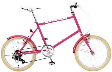 カラータイヤとフレームがマッチ20インチ小径車 ミニベロシマノ製7段変速 自転車カラータイヤロイヤルブルー イエロー ピンク ライトブルーコンパクト小型自転車 ホワイトカラーサドルスタイリッシュ街乗り自転車