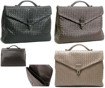 69f07363f0 BOTTEGA VENETA Emilio business bag briefcase handbag documents bag Bottega  Veneta intrecciato leather 113095 V4651 black 1000 NERO dark brown 2040  EBANO ...