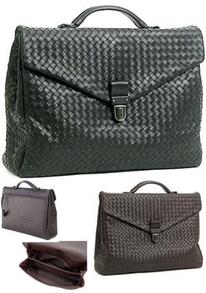 822b90f7d8 BOTTEGA VENETA Emilio business bag briefcase handbag documents bag Bottega  Veneta intrecciato leather 122139 V4651 black 1000 NERO dark brown 2040  EBANO ...
