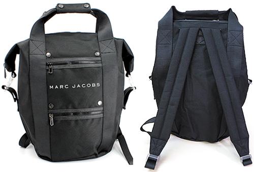 马克的马克 · 雅各布斯马克 · 马克 · 雅各布斯 2WAY 背包黑色手袋手提袋男装女装中性背包处理 polycanvas 下 S0000278 新未使用