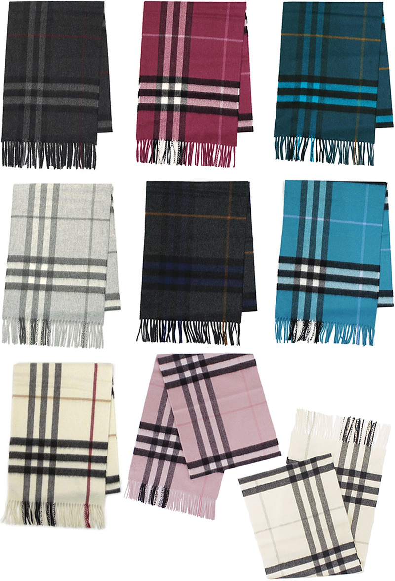 BURBERRY scarf Burberry cashmere scarf check giant icon scarf charcoal dark  blue white ivory Cassis red turquoise rose pink light gray MUFFLER CASHMERE  ... 0ab6f49b2f30c