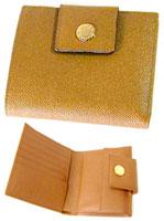 BVLGARI ブルガリ 二つ折り財布小銭入れ付き2つ折財布アンバーキャメルブラウンさいふ 財布 サイフ ウォレット