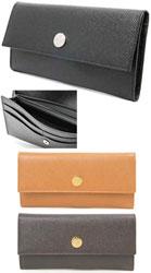 BVLGARI 小銭入れ付き2つ折り長財布 ブルガリブラック アンバキャメル ダークブラウン型押しカーフ 二つ折り長財布20912 さいふ サイフ 財布