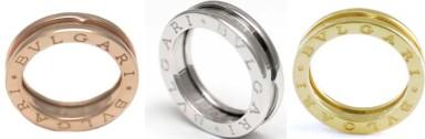 BVLGARI ビーゼロワンリングブルガリ 指輪 RINGB-Zero1 1バンドリング ピンクゴールドホワイトゴールド イエローゴールド18K 螺旋を細く解釈したデザイン円形競技場コロッセオインスピレーションを