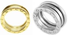BVLGARI Bzero1RINGブルガリ ビーゼロワンリングB.zero1 S 3バンドリング 指輪 ゆびわホワイトゴールド ローズゴールド18K イエローゴールド 3バンドリング