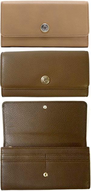 28e121621325 BVLGARIブルガリ小銭入れ付き二つ折り長財布モネーテメダルホックプードルベージュブラック