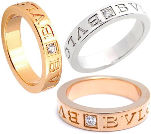BVLGARI BVBVRINGブルガリブルガリリング1Pダイヤモンドリング指輪 ロゴ刻印ホワイトゴールド イエローゴールド ピンクゴールドラウンドグレイビングロゴ18KT PINKGOLD,YELLOWGOLD,WHITEGOLD & DIAMOND RING