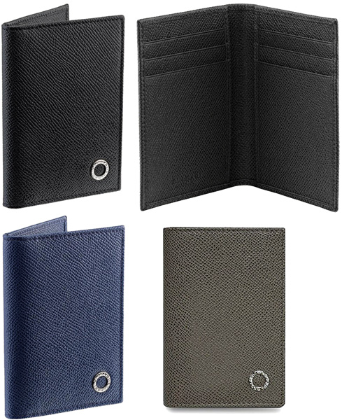 Kaminorth shop rakuten global market two fold card case black two fold card case black dark brown dark navy blue business card case brass palladium plate logo carved seal ring card case card with the bvlgari bulgari colourmoves