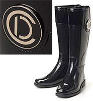 Christian Dior クリスチャンディオール レイニーブーツDプレート ブラック 長靴 ラバーブーツRAINY BOOT 靴 雨靴PQV74751