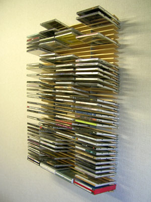 Use Wall Mounted Wood Cd Rack For Your Favorite To Take Advantage Instead Of Interior Accessories Storage Items Simple Modern Design Corrugated