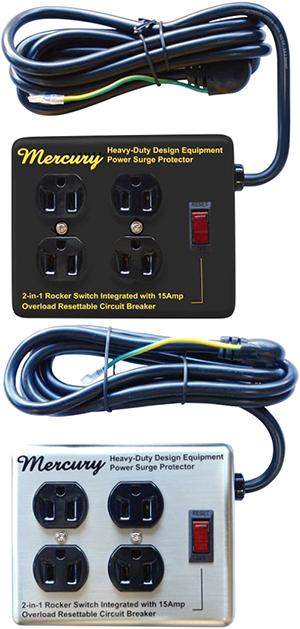 アメリカンスタイル レトロ電源延長コードプロ仕様のハイスペックパワータップ4口分岐 AC電源延長コードスチールボックス シルバー ブラック イエロー壁掛けも可能コンセントプラグ待機電源が気になる家電の省エネ&エコ対策掃除機やパソコン用に