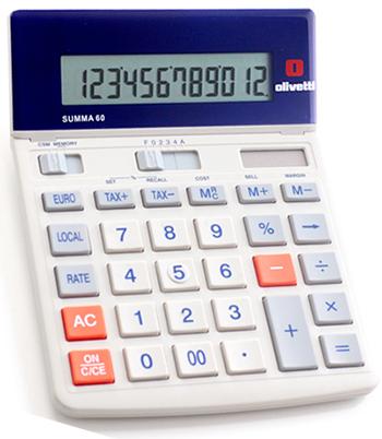 シックトーンスタイル計算機オフホワイト×グレー×オレンジ×ネイビー仕事場でもデザインにコダワルならコレ欧州デザイン カリキュレーター 電卓液晶部角度調整可能有機的な直線が印象的なの電卓12桁大型液晶 Calculator