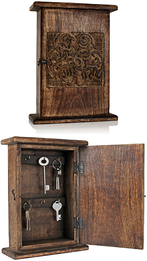 Etonnant Handmade Wood Key Storage Case Box Woody Key Skilled Craftsmen Gem Dug Wood  Quay Cabinet Car, Home, Bike, Bike Keys To Quickly Key Of Locker Storage ...