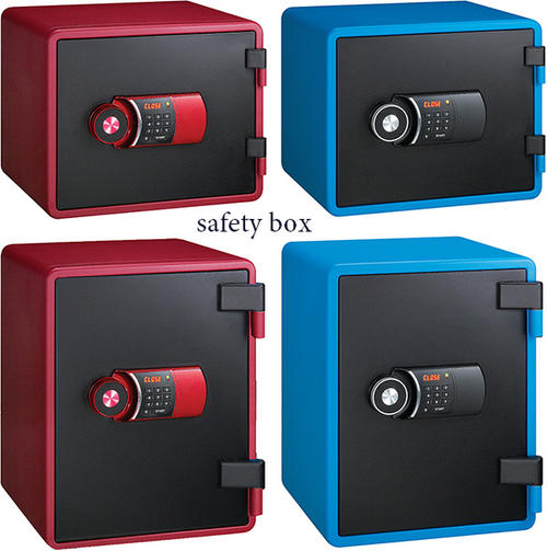 Home fireproof safe important documents and Bank and seal LCD Panel with  keypad lock electronic safe interior Seif tee box blue red black password