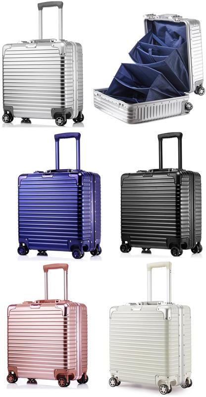 機内持ち込み可能安心TSAロック仕様伸縮ハンドル&4輪キャスター付きスーツケース小旅行用バッグ ハードケース 1~3泊の出張用にブラック シルバー ネイビーブルー ホワイト ローズピンク キャリーバッグノートパソコンもスマートに収納