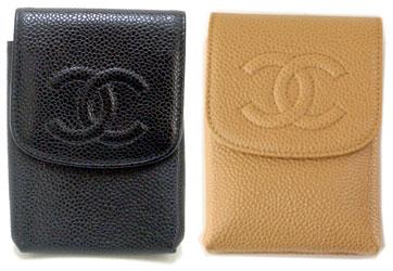 9137d1c9f013cd Chanel cigarette case CHANEL A13511 tobacco put caviar skin 13511 cigarette  case embossed Camellia & ...
