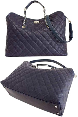 3962203e7ab3 CHANEL Chanel 2 WAY tote bag cruise collection Coco make metal chain handle  A66804 Y07407 93728