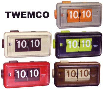 TWEMCO AL-30トゥエンコ パタパタクロック デスククロックトゥウェムコ 置き時計 デジタルアラームクロック 目覚まし時計ベージュ オレンジ グレー レッド ブラウン ホワイト