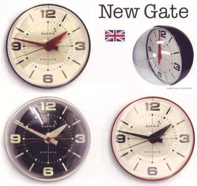 ニューゲート 掛け時計 バブル ウォールクロックNEW GATE BUBBLE WALL CLOCKクリーム レッド ブラック
